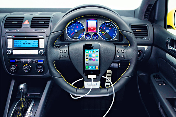 to be safe to operate gadgets on car