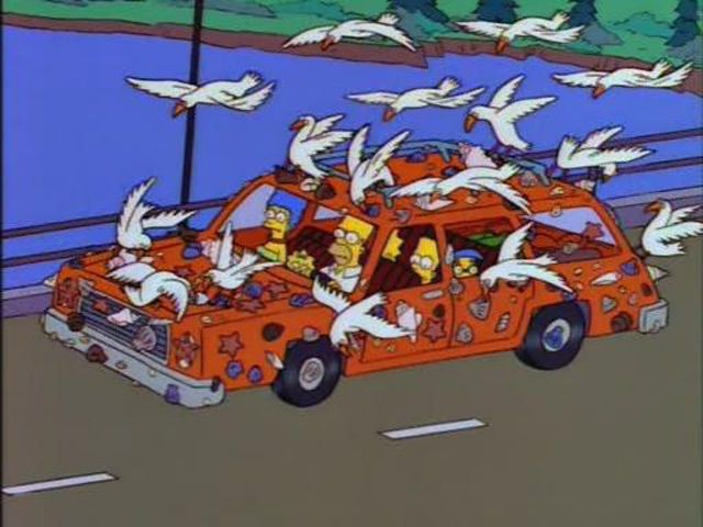Funny Vehicles Scenes of the Simpsons